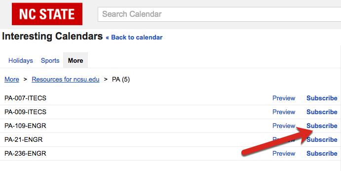 Google Calendar Subscribe Link